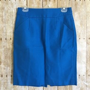 J CREW The Pencil Skirt in Blue